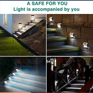 JSOT, Wireless Solar Powered Deck Lights