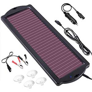 POWOXI 1.8W 12V Solar Car Battery Charger Maintainer