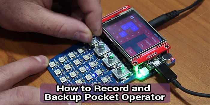 how to record pocket operator